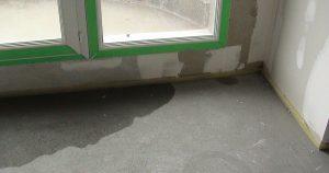 infiltration d'eau malfaçons baie vitrée, rénovation