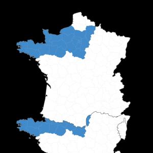 carte de france, intervention du groupe ouest expertise dans le grand ouest et la région parisienne