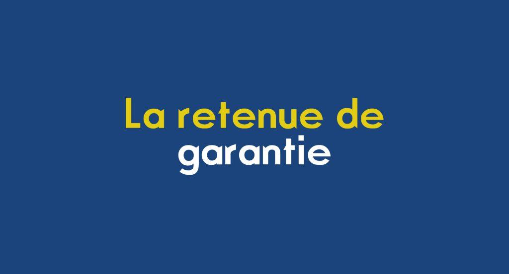 retenue garantie facture