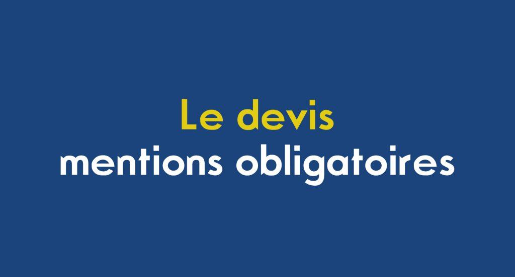 Image avec le titre de l'article, Le devis mentions obligatoires par Ouest Expertise