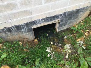 eau massive en vide sanitaire